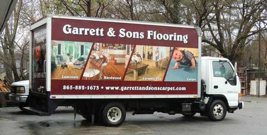 Garrett and Sons Flooring Truck